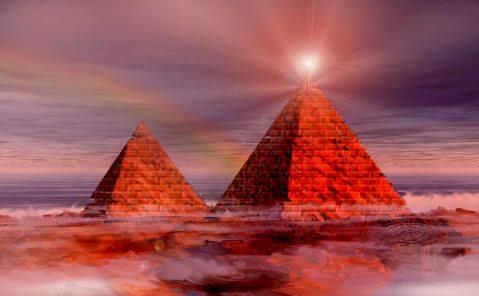 Mart 2012′ de, Piramitler Gizemli Uzay Bulutuna Işınlar Gönderiyor