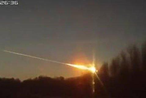 Rusya da Düşen Meteorun Birçok Açıdan Çekilmiş Görüntüsü
