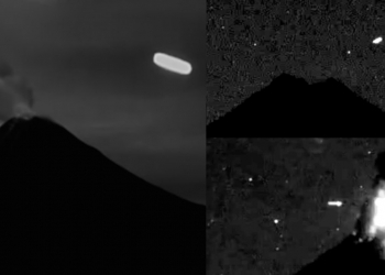 Colima Volkanı Meksika'da UFO Ziyaretleri