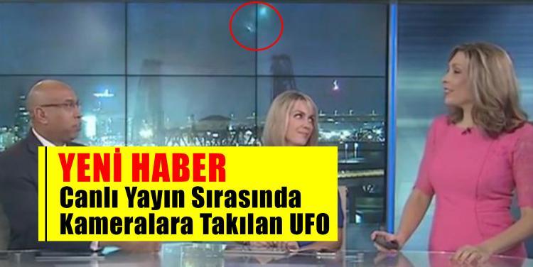 Canlı Yayın Sırasında Kameralara Takılan UFO