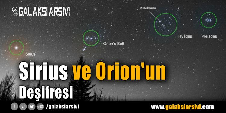 Sirius ve Orion'un Deşifresi