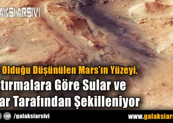 Kurak Olduğu Düşünülen Mars'ın Yüzeyi, Araştırmalara Göre Sular ve Buzlar Tarafından Şekilleniyor
