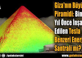 Giza'nın Büyük Piramidi: Binlerce Yıl Önce İnşa Edilen Tesla Benzeri Enerji Santrali mi?