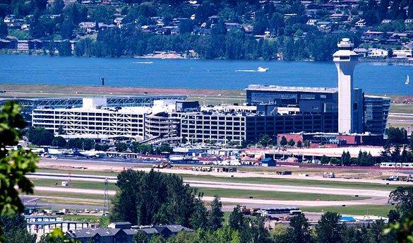 Portland International Airport from Rocky Butte