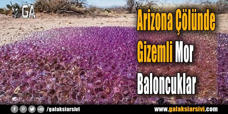Arizona Çölünde Gizemli Mor Baloncuklar