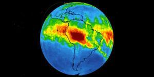 Amazon Yangınında Salınan Karbonmonoksit Gazının Görüntüsü